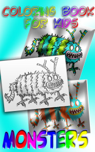 Coloring Book for Kids - Monsters