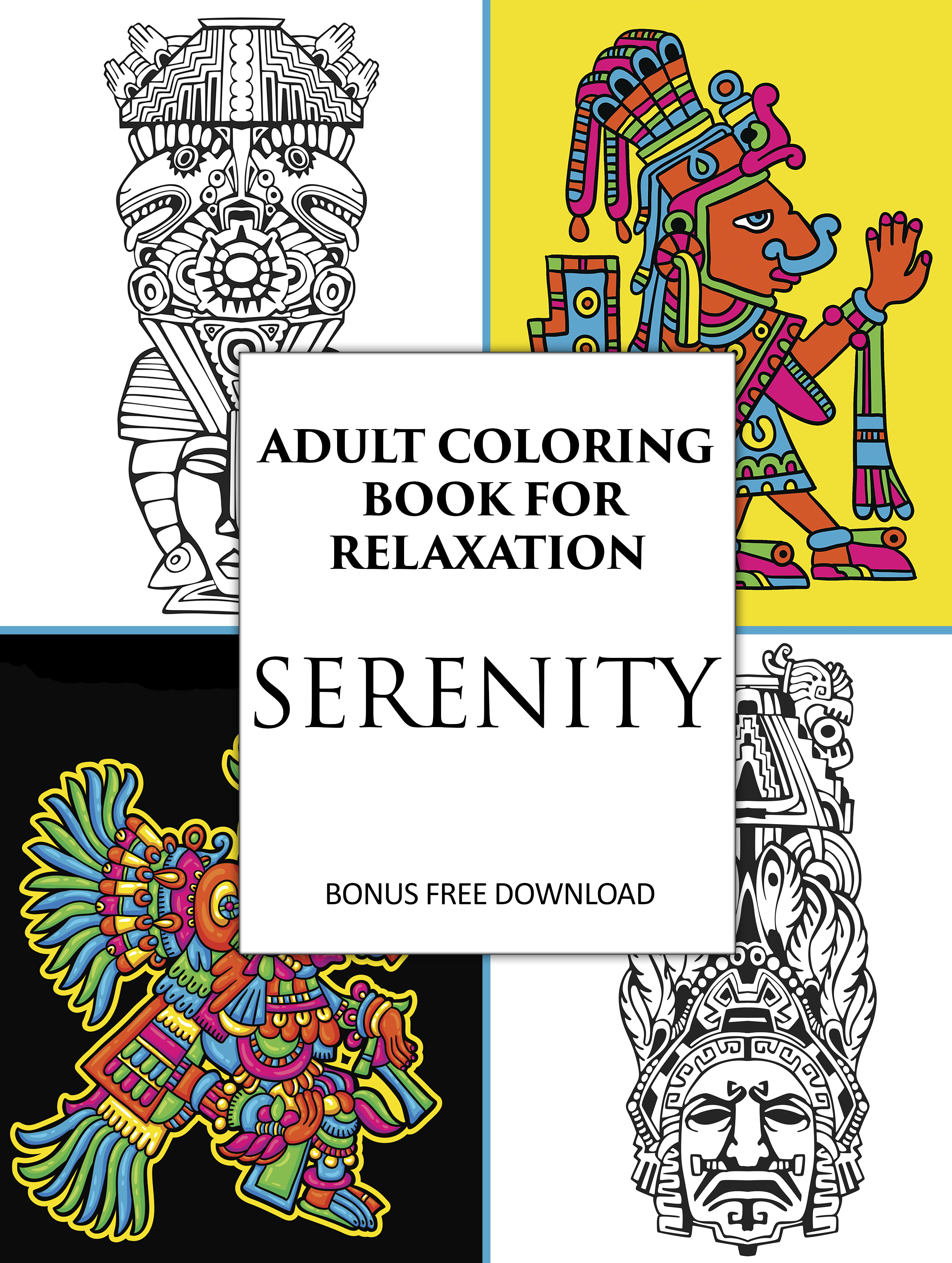 Coloring Books For Relaxation : Adult coloring book for relaxation mix books
