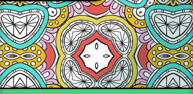 A Coloring Book for Adults Featuring Geometric and Flowing Designs