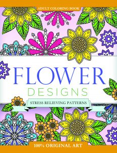 Adult Coloring Book Flower Designs: Stress Relieving Patterns