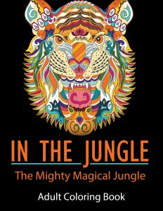 In the Jungle adult coloring book