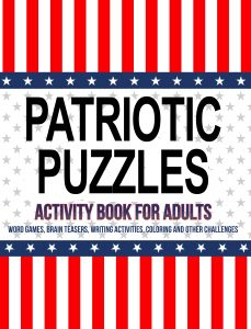 Patriotic Puzzles Adult Activity Book